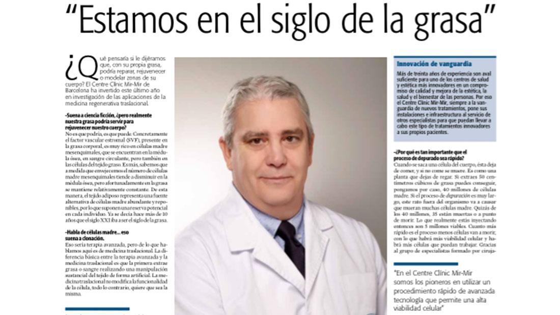 entrevista Dr. Sebastián Mir-Mir en La Vanguardia